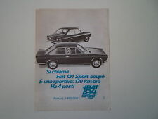 advertising Pubblicità 1967 FIAT 124 SPORT COUPE'