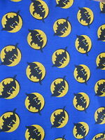 halloween Fabric bat & moon  purple craft cotton half yard cut 1/2