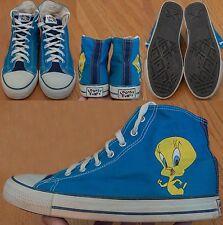 Vintage 1994 Looney Tunes Tweety Bird Blue Canvas Shoes Mens US 9.5 Style: 6058