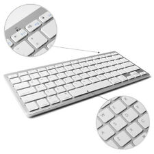 Universal White Wireless Bluetooth Keyboard For iPad IOS Android Windows To Work