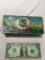 Vintage Tobacco Tin Box - Players Navy Cut Cigarettes Gold Leaf