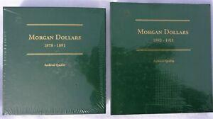 Littleton Coin Albums, Morgan Dollars 1878-1891 + 1892-1921. Sealed Brand New