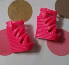 Barbie Doll Shoes Fashionistas Raquelle Replacement Pink Heels Only Wedges