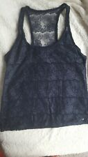 Abercrombie And Fitch Navy Lacy Vest Top Size M