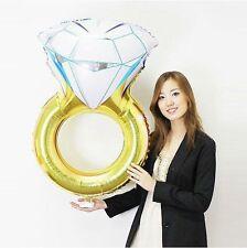 80*50 CM Diamant Ehering Verlobungsring Folienballons dekoriert