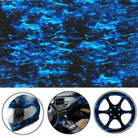 Blue Fire PVA Hydrographic Film Water Transfer Printing Hydro Car Film Decor