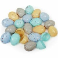 American Carnival Mart Assorted Natural Color Empty Plastic Speckled Eggs ~ 100