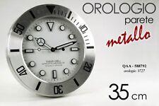 OROLOGIO DA PARETE TONDO IN METALLO 35 CM QAA-588792