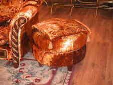 Luxus Klasse Antik Stil Barock Rokoko Fußhocker Hocker Ottomane Chaise Rund Neu