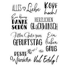 Viva Decor Silikonstempel , Motivstempel, Clear-Stamps Alles Liebe