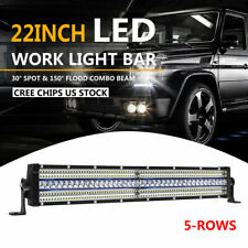 21Inch 5760W 5-Rows LED Light Bar Spot Combo Truck Offroad For Jeep Wrangler JK