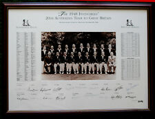 1948 Invincibles Limited Edition signed team photo Bradman 9 signatures 27/48 r
