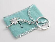 Tiffany & Co RARE Silver Palm Tree Keychain Key Chain Key Ring!