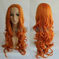 Death/matsumoto rangiku Fashion long orange Curly Cosplay Wig