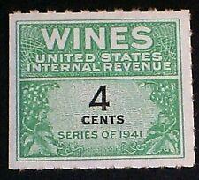Wines & Cordials Tax Stamp, Scott RE116 MNGAI F-VF