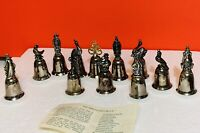 LOT Reed & Barton Twelve Days of Christmas Silverplate Bells  ALL 12