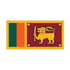 Autocollant Drapeau Sri Lanka sticker flag 8 cm