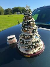 "2004 Bradford Exchange Thomas Kinkade Village Christmas Illuminated Tree 15""tall"