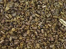 Metal Beads Asst Shapes 50g Golds Barrels Spacers Tibetan FREE POSTAGE
