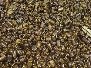Metal Beads Asst Shapes 50g Golds Spacers DIY Jewellery Tibetan FREE POSTAGE