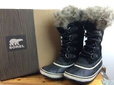 SOREL LADIES UK 4.5 EU 37.5 JOAN OF ARCTIC SNOW BOOTS BLACK WHITE WINTER RRP£125