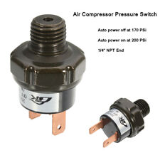 Air Compressor Tank Pressure Switch 170Psi On to 200Psi Off Air Ride Suspension