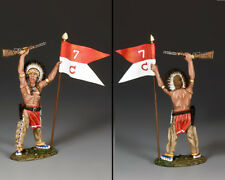 KING & COUNTRY THE REAL WEST TRW132 WAR BONNET WITH GUIDON MIB