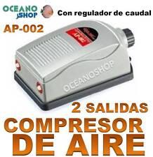 COMPRESOR de AIRE 2x2,5l/min ACUARIO 2 SALIDAS CON REGULADOR OXIGENADOR AIREADOR