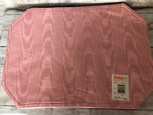 Town & Country Linens Wipe Clean Vinyl Pacemats Dusty Rose Set Of 6 NWT