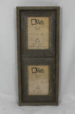 """5x7-2.5"""" Wide Reclaimed Rustic Barn Wood Vertical Collage Frame - Holds 2 Photos"""