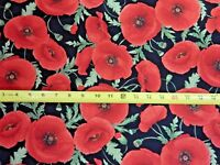 Flower Flowers LARGE POPPIES C5837 Nice Timeless Treasures Cotton Fabric NICE