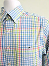 Shirt VINEYARD VINES Slim Fit Tucker Long Sleeve Multi Color Check Size Small
