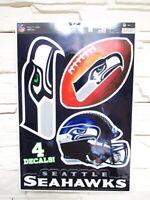 Seattle Seahawks 4 Aufkleber Decal Badges Set NFL Football Neu