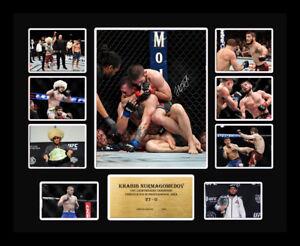 New Khabib Nurmagomedov UFC Champion Signed Limited Edition Memorabilia Framed