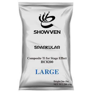Sparkular Pro Powder 200g Silver Fountain, Cold Spark, Indoor Pyro, Consumable