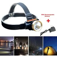 5000LM LED Rechargeable Waterproof Headlight Head Lamp + Charger US