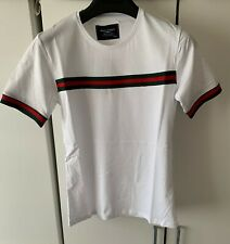 Men's  Slim Fit Summer 2020 Collection Crew Neck Fashion Short Sleeve White