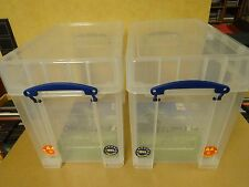 SET OF 2 REALLY USEFUL BOXES FOR +-50 LP'S - 19 LITER XL