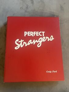 1987 PERFECT STRANGERS Crew Copy book & script signed CARL LEWIS wrap photo TV
