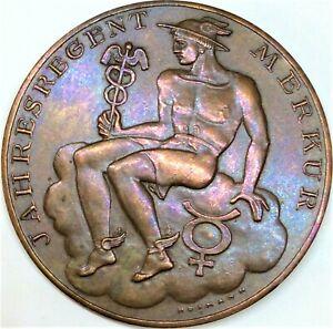 Austria medal 1949 calendar with Mercury 40mm bronze