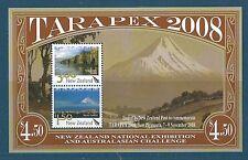 NOUVELLE-ZÉLANDE 2008 TARAPEX BLOC-FEUILLET NON MONTÉS EXCELLENT ÉTAT
