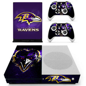 Xbox one S Slim Console Controllers Vinyl Stickers Decals NFL Baltimore Ravens