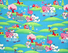 DISNEY PALACE PETS BEST FRIENDS MAGICAL  SPRING CREATIVE  COTTON FABRIC  YARDAGE