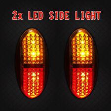 2x 4LED Red/Amber Side Marker Clearance Indicator Light For Car Trailer 12V/24V