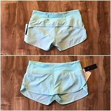 NWT Lululemon Speed Short Toothpaste  Mint Green Size 4 With Small Shopper