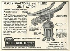 1953 Wilkes Berger Engineering Tilting Chair Shoreditch Ad