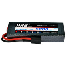 HRB 2S 5200mAh 7.4V LiPo Battery 35C-70C Traxxas Hardcase for RC Car Truck Buggy