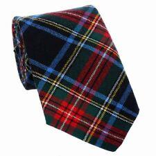 New Scottish Made Highland Kilt 100% Wool UK Stewart Black Modern Tartan Ties