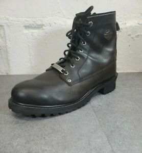 Harley Davidson Boots Mens 13 Black Leather Side Zip Riding Boots 96005