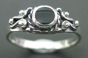 REAL 925 sterling silver Black onyx - Paua shell - Lapiz - Turquoise Ring - GIRL
